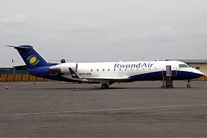 RwandAir - A former RwandAir Bombardier CRJ200LR
