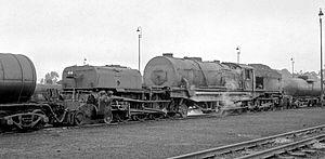 South African Class GM 4-8-2+2-8-4 - No. 2298 at Krugersdorp, 23 April 1970