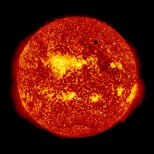 Transit of Venus - Image of the 2012 transit taken by NASA's Solar Dynamics Observatory spacecraft