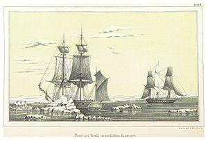 William Pullen - Meeting of HMS Plover and HMS Herald in the Arctic Seas of Alaska