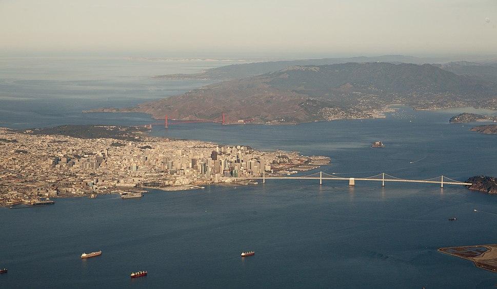 SF-Marin-Pt Reyes aerial panorama