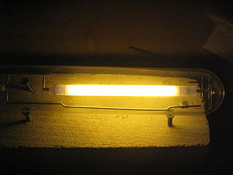 Sodium-vapor lamp - High-pressure sodium lamp in operation