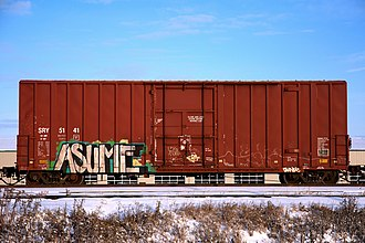 Southern Railway of British Columbia - SRY boxcar