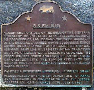 SS Emidio - The S.S. Emidio marker