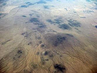 Sacaton Mountains (Arizona) - Oblique air photo of the Sacaton Mountains, facing east, August 2011