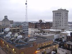 view of Downtown Saginaw from the Bearinger Building