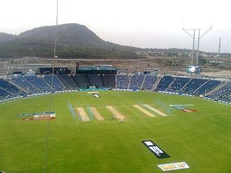 Pune Warriors India - Maharashtra Cricket Association Stadium at Gahunje, the home ground of Pune Warriors India from 2012–2013