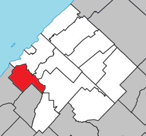 Saint-Éloi, Quebec - Image: Saint Éloi Quebec location diagram