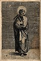Saint Thomas. Line engraving by M. Dente (Marco da Ravenna) Wellcome V0033086.jpg