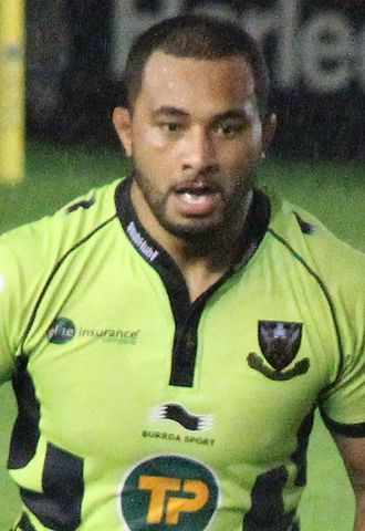 Samu Manoa - Manoa playing for Northampton in 2013