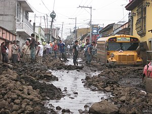 Tropical Storm Agatha - Deadly mudslide in San Miguel Escobar.