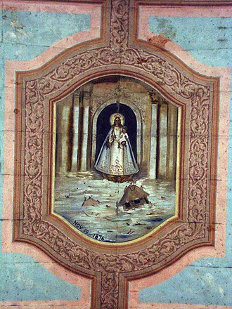 Our Lady of Guadalupe in Extremadura - Frescoes on San Pedro Church in Loboc by renowned Cebuano painter Ray Francia