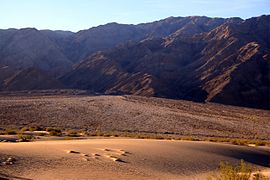 Sand dunes and road in Death Valley.jpg