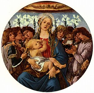 Religious art - An example of a Madonna, commissioned by the Catholic Church during the Renaissance.