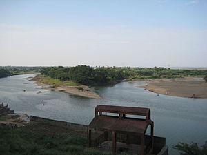 Bhima River - Confluence of the Indrayani River and the Bhima River at Tulapur.