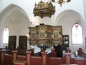 Nakskov Church - Pulpit by Jørgen Ringnis (1630)