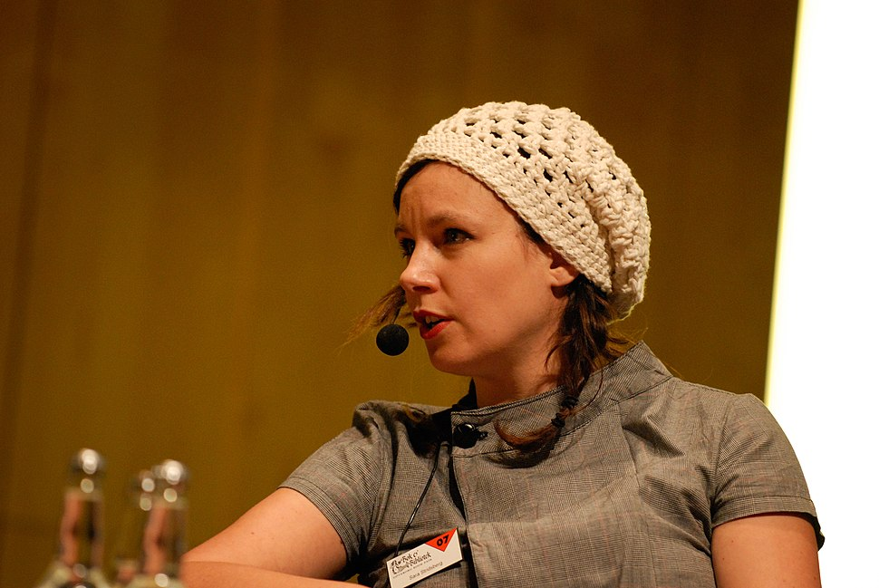 Sara Stridsberg, vinnare av Nordiska radets litteraturpris 2007 pa seminariet, forfattaren i boken, pa bokmassan i Goteborg 2007-09-29 (3)