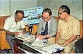 Saroj Ghose And Goto Executive Signing MOU Of Goto GSS-Helios And Astrovision-70 Projection System For Science City - NCSM - Calcutta 1995-06-15 244.JPG