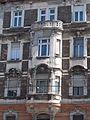 Sarokház. Zárt erkély. - Budapest, Középső-Ferencváros, Ferenc körút, 9-11.JPG