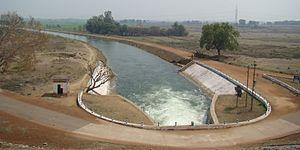 Hirakud Dam - Image: Sasan Canal