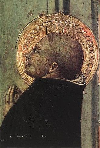 Stefano di Giovanni - Detail of il Sassetta's Ispirazione di San Tommaso, 1423, Museum of Art, Budapest
