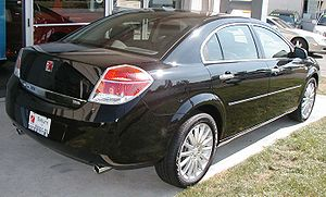 Saturn Aura - Note that the rear of the Aura sits higher than the front.