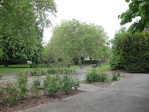 Parks and open spaces in the London Borough of Lewisham - Sayes Court Park, an historic Deptford garden, designed by 17th-century diarist and gardener John Evelyn