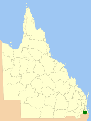 Scenic Rim Region - Location within Queensland