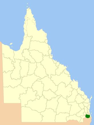 Scenic Rim Region - Location within Queensland