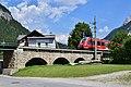 Scharnitz - Isarviadukt mit DB-Regio-Zug der Werdenfelsbahn Richtung Innsbruck - 1.jpg