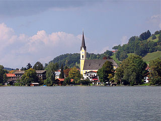 Schliersee Place in Bavaria, Germany