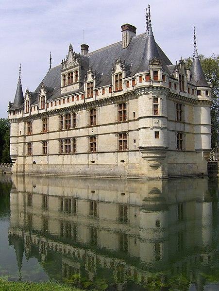 The château de Azay-le-Rideau, south-eastern aspect