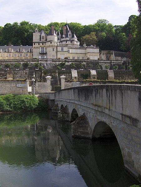 The château de Ussé, view over the Indre river
