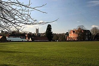 King Edward VI School, Bury St Edmunds - The Vinefields site of the former grammar school