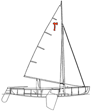 Pirate (dinghy) - Image: Schwertboot Riss