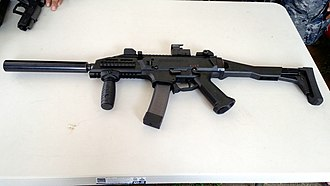 CZ Scorpion Evo 3 - A Scorpion Evo 3 used by the Philippine Coast Guard Special Forces Unit