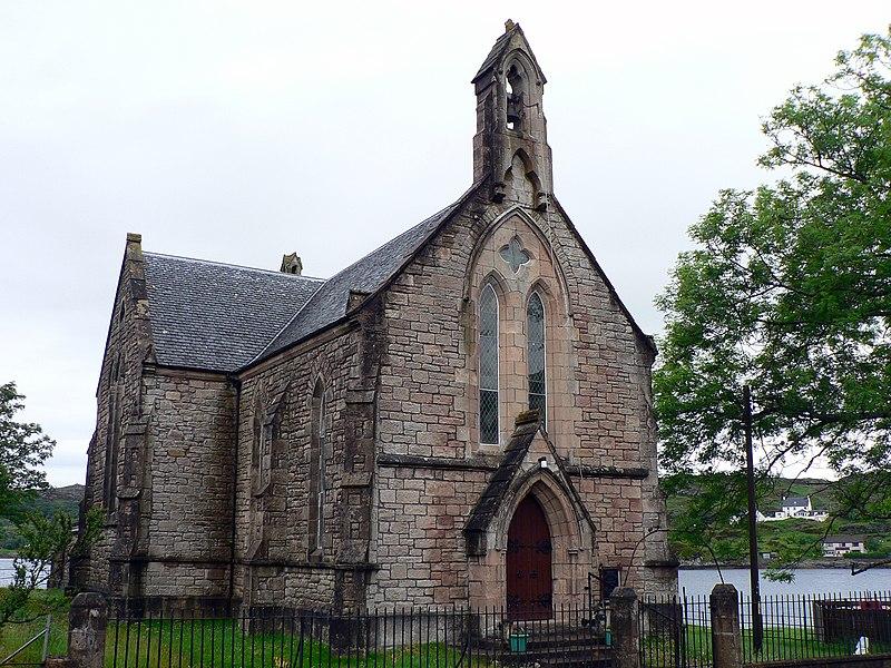 File:Scotland Lochinver church.jpg