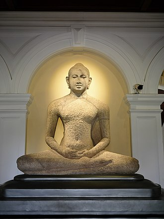 National Museum of Colombo - Sculpture of the Buddha located at the entrance of the museum.