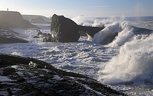 California Coastal National Monument - Sea Arch and high surf near Point Arena, CCNM