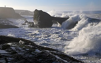 California Coastal National Monument - Sea Arch and high surf near Point Arena, CCNM