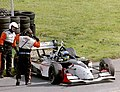 Sebastien Bourdais - NewmanHaas Racing heads for Parc Ferme after winning the 2003 Champcar London Trophy race (50813831726).jpg