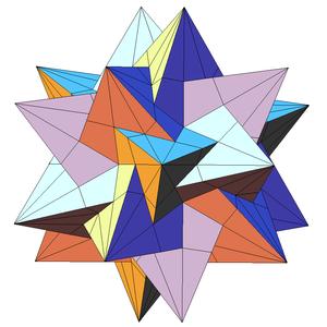Compound of five tetrahedra - Compound of five tetrahedra