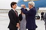 Secretary Kerry Chats With Ambassador Caroline Kennedy's Son Jack Schlossberg (25734861753).jpg