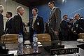 Secretary of Defense Chuck Hagel greets Canadian Minister of Defense Peter MacKay.jpg