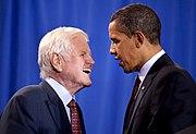 Senator Edward Kennedy with President Barack Obama 4-21-09