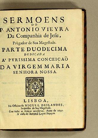 António Vieira - Sermoens do P. Antonio Vieyra da Companhia de Jesu, prègador de Sua Magestade, Septima Parte