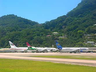 Seychelles International Airport - Apron view