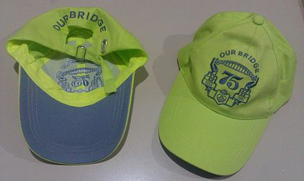 The commemorative hats given to walkers Shb75thhats.jpg