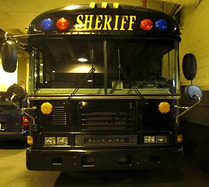 Prisoner transport - The Cuyahoga County Sheriff's Office Prisoner Transport bus. This bus, carrying up to thirty prisoners, makes five trips a week from the county jail to other prisons.