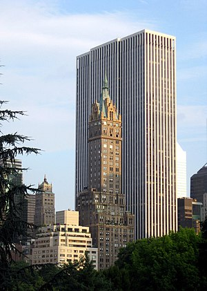 General Motors Building (Manhattan) - The building as seen from Central Park in 2008